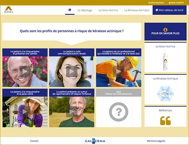 Aller sur le site e-learning Actinica